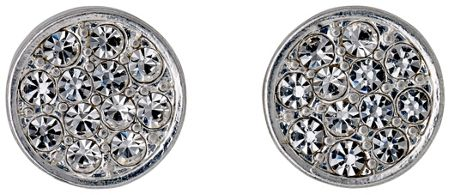 Pilgrim Silver plated with crystals earrings