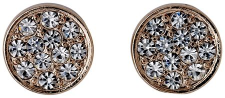 Pilgrim Rose gold colour with crystals earrings