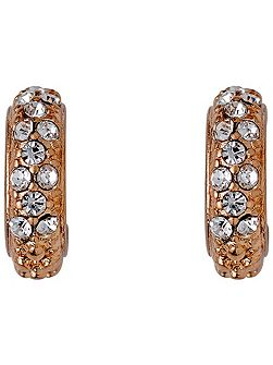 Rose gold colour with crystals earrings