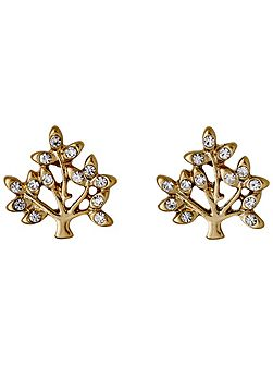 Gold plated with crystal earrings