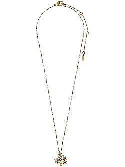 Gold plated with crystal necklace