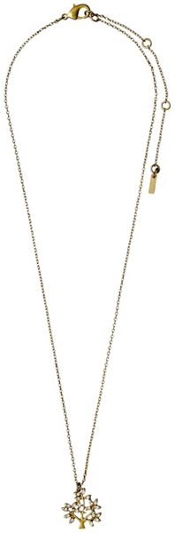 Pilgrim Gold plated with crystal necklace