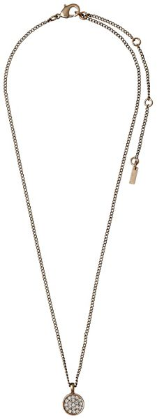 Pilgrim Rose gold colour with crystals necklace