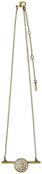 Pilgrim Gold plated with crystals necklace