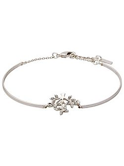 Silver plated with crystals bracelet