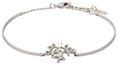Pilgrim Silver plated with crystals bracelet