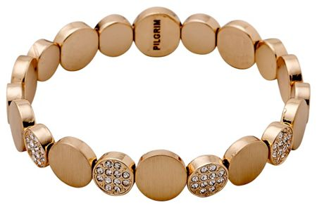 Pilgrim Rose gold colour with crystals bracelet