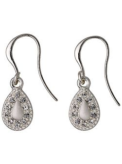 Silver plated with crystals earrings