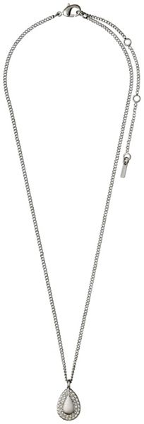 Pilgrim Silver plated with crystals necklace