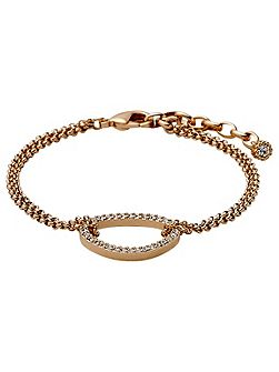 Rose gold colour with crystals bracelet