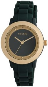 Pilgrim Green and gold plated watch