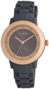Pilgrim Grey and rose gold plated watch