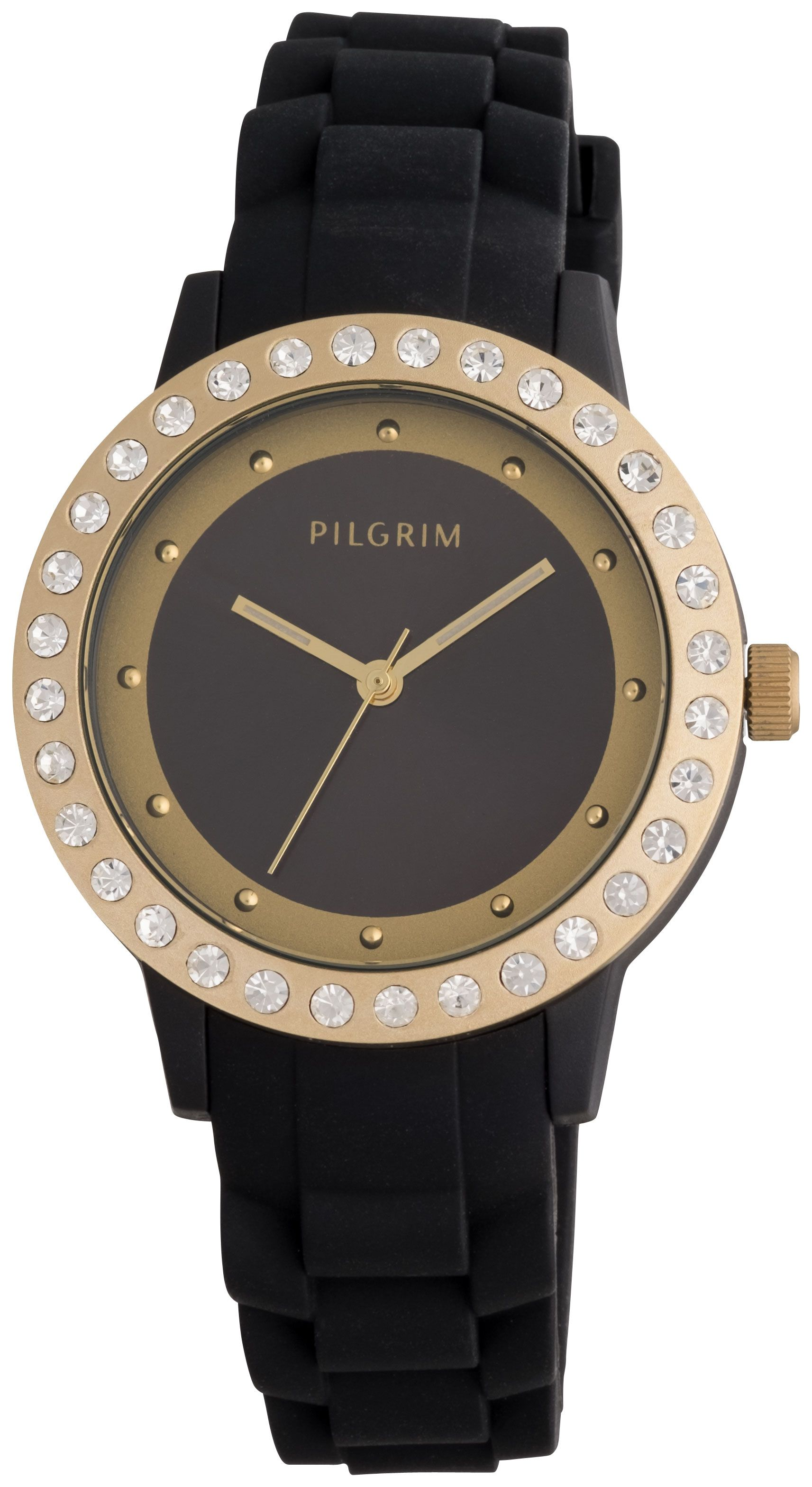 Pilgrim Gold plated with black watch Black