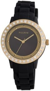 Pilgrim Gold plated with black watch
