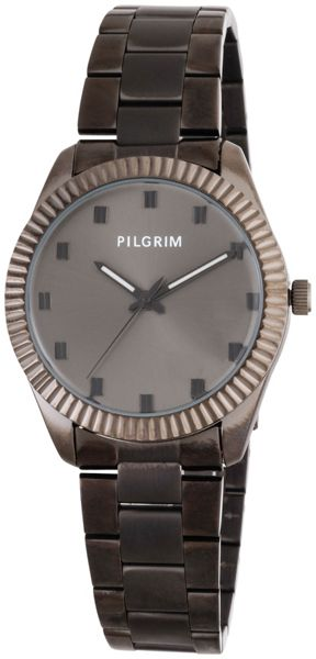 Pilgrim Hematite plated watch