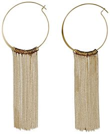 Pilgrim Gold plated curb chains hoop earrings