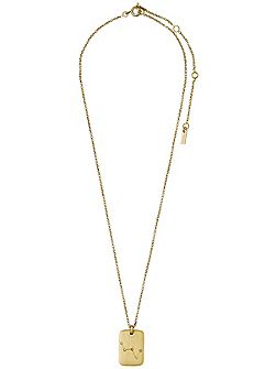 Gold plated cassiopeia crystal necklace