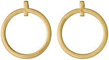 Pilgrim Gold plated circle stud earrings