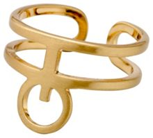 Pilgrim Gold plated adjustable ring