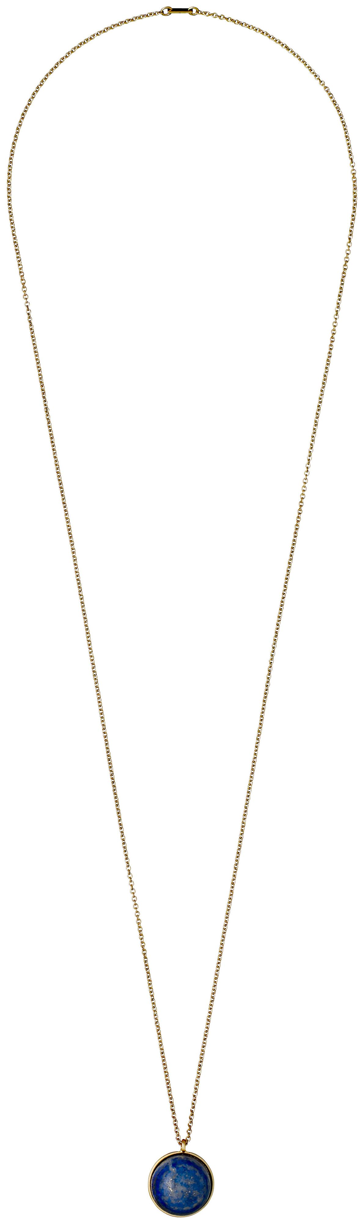 pilgrim gold plated blue two pendants necklace
