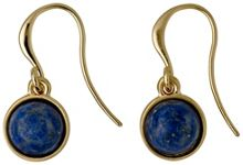 Pilgrim Gold plated blue dangle earrings