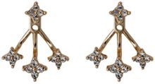 Pilgrim Rose gold colour 2 in 1 swing earrings