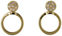 Pilgrim Gold plated 2 in 1 crystal earrings