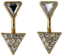 Pilgrim Gold plated 2 in 1 triangle earrings
