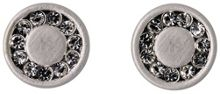 Pilgrim Silver plated ear studs with crystals