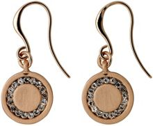 Pilgrim Rose gold dangle earrings with crystals
