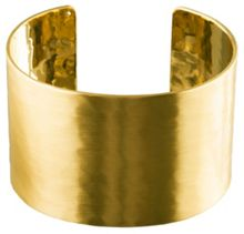 Pilgrim Wide Hammered Gold Plated Cuff Bracelet