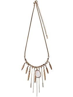 Deluxe rose gold collarbone necklace