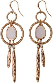 Pilgrim Rose Gold Super Pretty Dangle Earrings