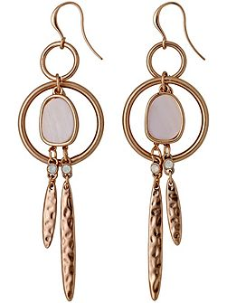 Rose Gold Super Pretty Dangle Earrings