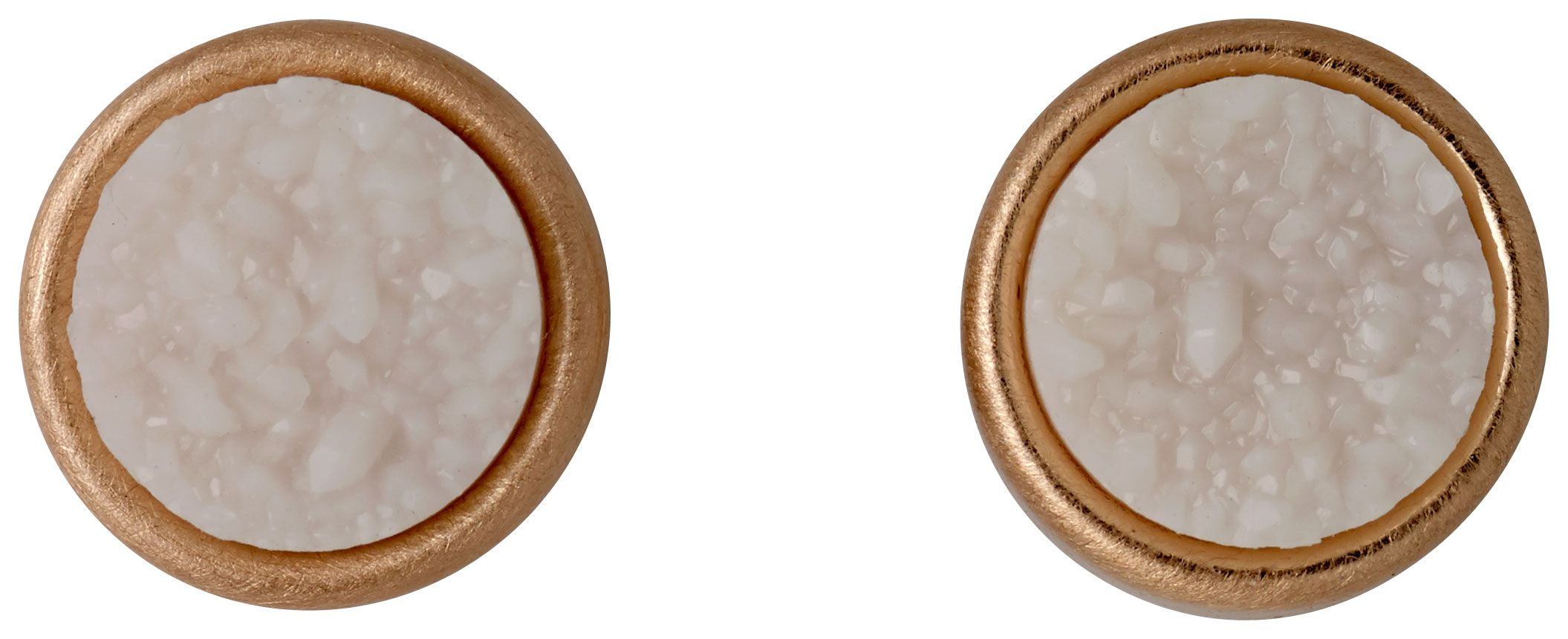 pilgrim rose gold ear studs with a white stone