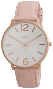 Pilgrim Beautiful rose gold and pale pink watch