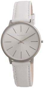 Pilgrim Simple silver plated and white watch
