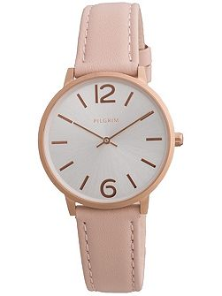 Feminine rose gold and pale pink watch
