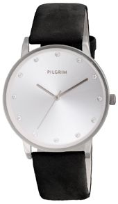 Pilgrim Classic silver plated crystal watch