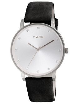 Classic silver plated crystal watch