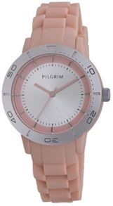 Pilgrim Pretty silver plated and pink watch