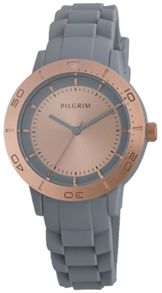 Pilgrim Beautiful rose gold and grey watch