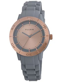 Beautiful rose gold and grey watch