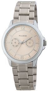Pilgrim Elegant and stylish silver-plated watch