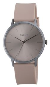 Pilgrim Simple silver plated and rose watch