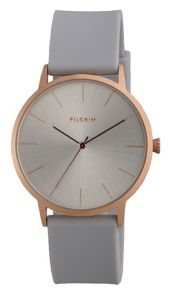 Pilgrim Minimalistic rose gold and grey watch