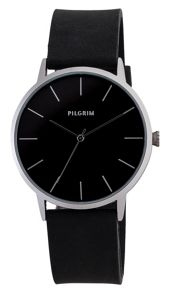 Pilgrim Pretty silver plated and black watch