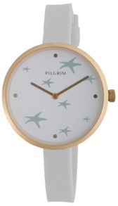 Pilgrim Beautiful gold plated and blue watch