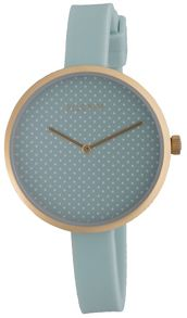 Pilgrim Gold plated and green watch with dots