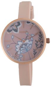 Pilgrim Rose gold and pink watch with flowers